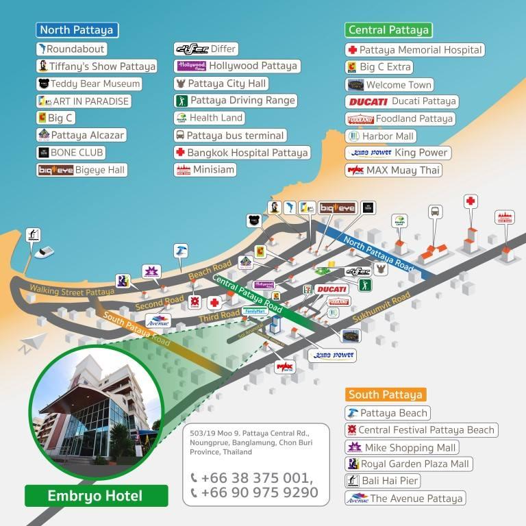 EMBRYO HOTEL PATTAYA - Us hotel map